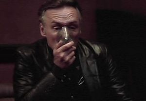 Dennis Hopper's disturbing performance as the violent and sexually-perverted Frank Booth...